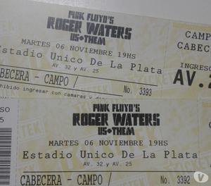 entradas para Roger Waters el precio es por cada una