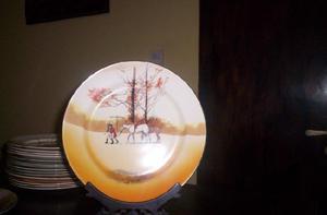 Muy Antiguo Plato De Mesa 4 (26 Cm) Royal Doulton Serie Peel