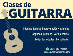 Clases de guitarra en San Isidro, Boulogne, Beccar, Martinez