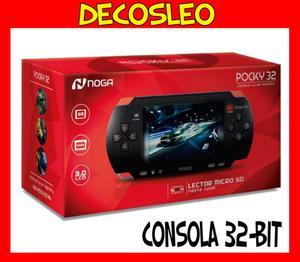 Consola Portatil Noganet Pocky 32 Bits Juegos Mp5 Oferta