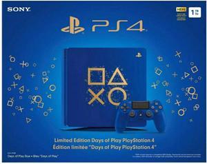 Sony Ps4 Slim 1Tb Azul Edicion Limitada Days Of Play * Cap y