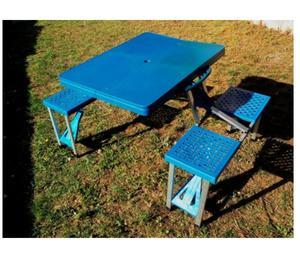 Vendo Mesa plegable con 4 sillas para camping