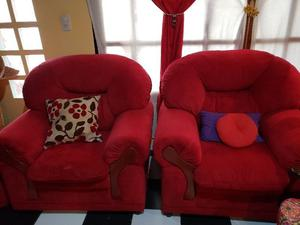 Juego de sillón de pana