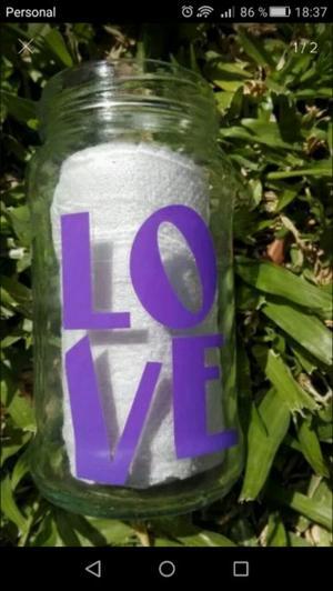 Letras en vinilo para frascos