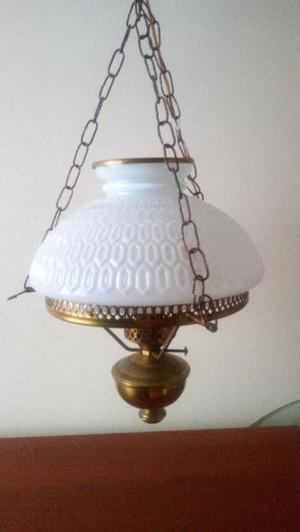 Lámpara Colgante Antigua De Bronce USADA