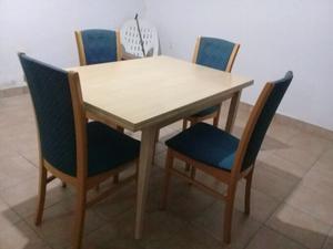 juego de mesa extendible con 6 sillas $