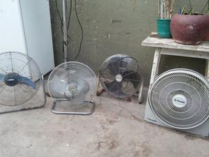 lotes de ventiladores de pie y turbos la mayoria antiguos