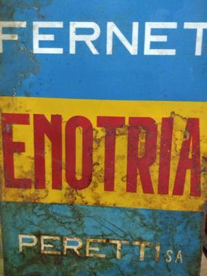 Antiguo cartel de Fernet Enotria - de chapa (no Branca coca