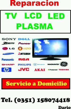 REPARACIÓN EN EL DOMICILIO DE TV LCD LED SMART PLASMA