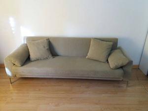 Sofá cama, 3 cuerpos, chenille