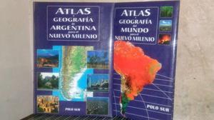 2 atlas del mundo y de argentina