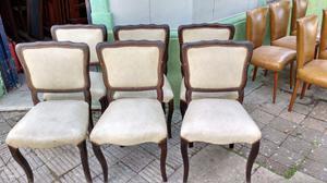 Hermoso juego de sillas antiguas estilo Luis 15