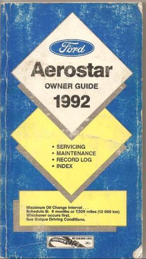 Manual de Ford Aerostar linea  - de usuario en formato