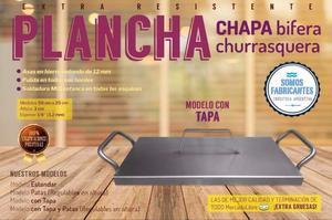 Plancheta Con Tapa plancha Chapa Bifera Churrasquera Para 2