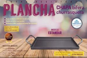 Plancheta plancha Bifera Churrasquera Chapa para 2 Hornallas