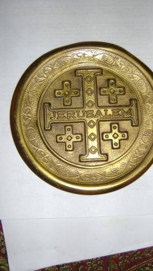 Antiguo Plato Decorativo Para Colgar O Exponer Jerusalem