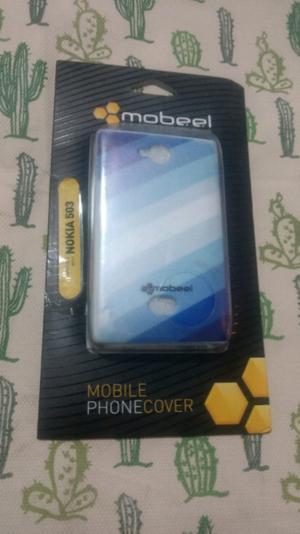 Funda de plastico tpu para celular Nokia 503 color celeste