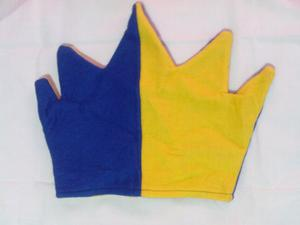 Lote de 12 gorros Boca Juniors de cotillón