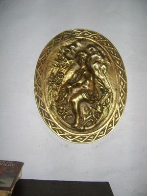Muyantiguo Medallon De Bronce Tallado Con Angel O Querubin 3