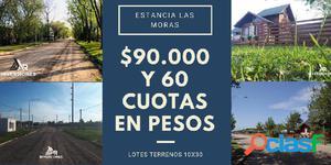 TERRENOS EN RICARDONE - ENTREGA Y FINANCIACION EN 60 CUOTAS