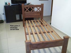 Bellisima cama de 1 plaza !!! Flete gratis !! ♥