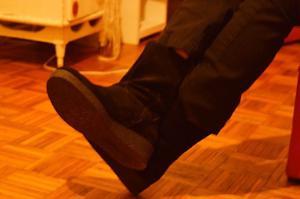 Botas de gamuza negras (Hush Puppies)