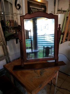 Espejo rectangular de algarrobo