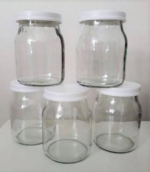 Frascos de vidrio con tapa de plastico