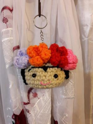 Llaveros de Frida khalo. Souvenirs