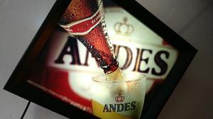 Cartel Andes Impecable Estado Con Foco Incluido