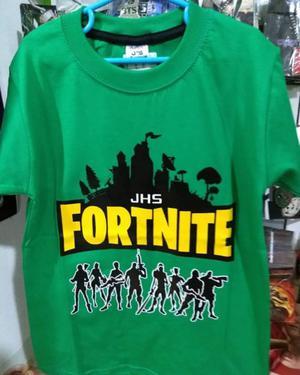 Remeras y dijes para niños de Fornite, video juegos,
