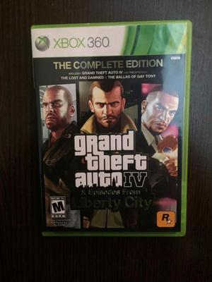 Juego x box Grand theft auto IV the complete edition