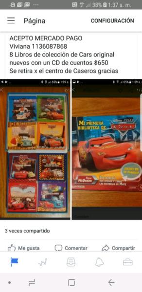 8 libros de Cars