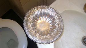 Antiguo Bowl Para Masitas En Metal Plateado