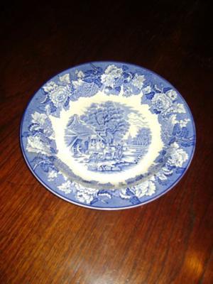 Antiguo Plato Nª8 De Adorno O De Colgar Porcelana Inglesa