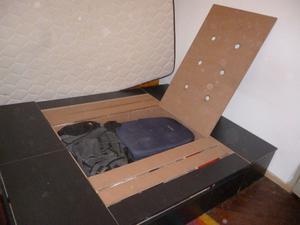 Box Sommier 6 Cajones - Negro 1.40x1.90m Con Colchon Suite
