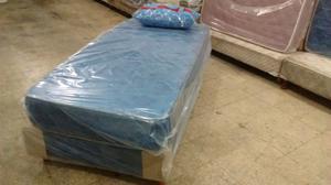 Colchón y sommier de 1 y 1/2 plaza 190x090+almohada +