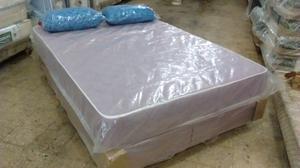 Colchón y sommier de 2 plazas 190x130+almohadas + envío en