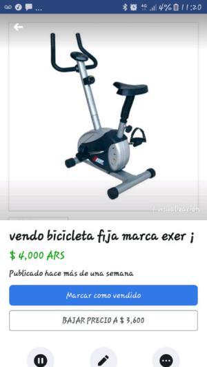 bicicleta fija Exer