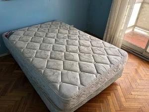 Cama sommier matrimonial con colchón 140 x 190