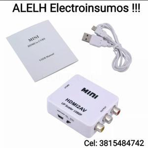 Conversor HDMI a RCA Audio y Video HD