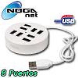 HUB USB 2.0 de 8 Puertos NOGANET NGH-81