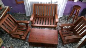 Juego de sillones de algarrobo macizo