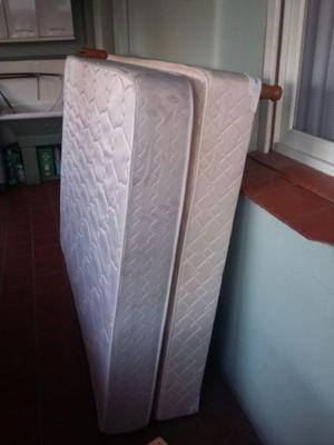 Vendo conjunto sommier + colchón 2 plazas USADO