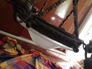 antigua araña estilo frances en bronce