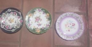 3 Platos decorativos colgantes