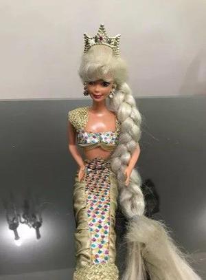 Barbie Sirena. Jewel Hair. Mattel De Los 90s