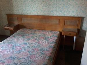 Jgo. Dormitorio PETIRIBI MACIZO + Lampara de Bronce