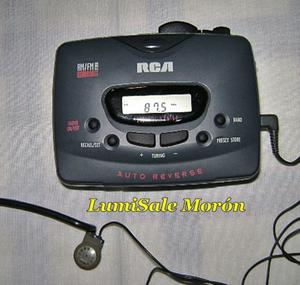 Walkman RCA digital con radio am/fm y pasacassette