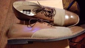 Zapato Zapatilla Oveja Negra Cuero De Baca Y Tela D Calidad